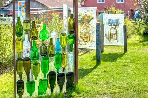 Glaskunst im Vorgarten
