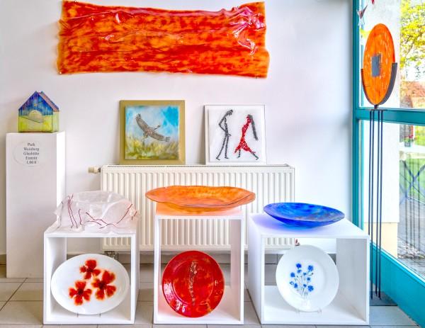 Glashütte Annenwalde - Glaskunst im Eingangsbereich