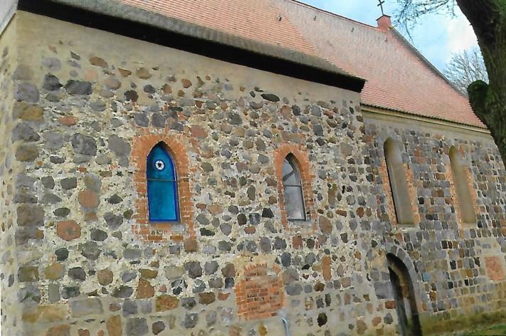 Luther-Rose in der Wehrkirche Gollmitz