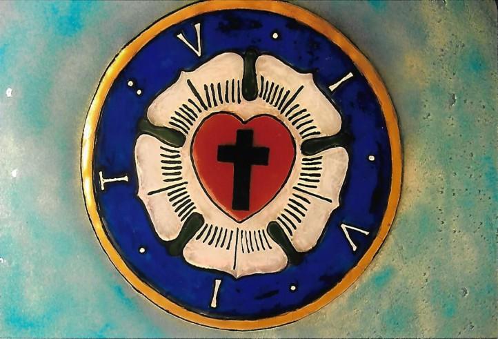 Luther-Rose für die Wehrkirche Gollmitz