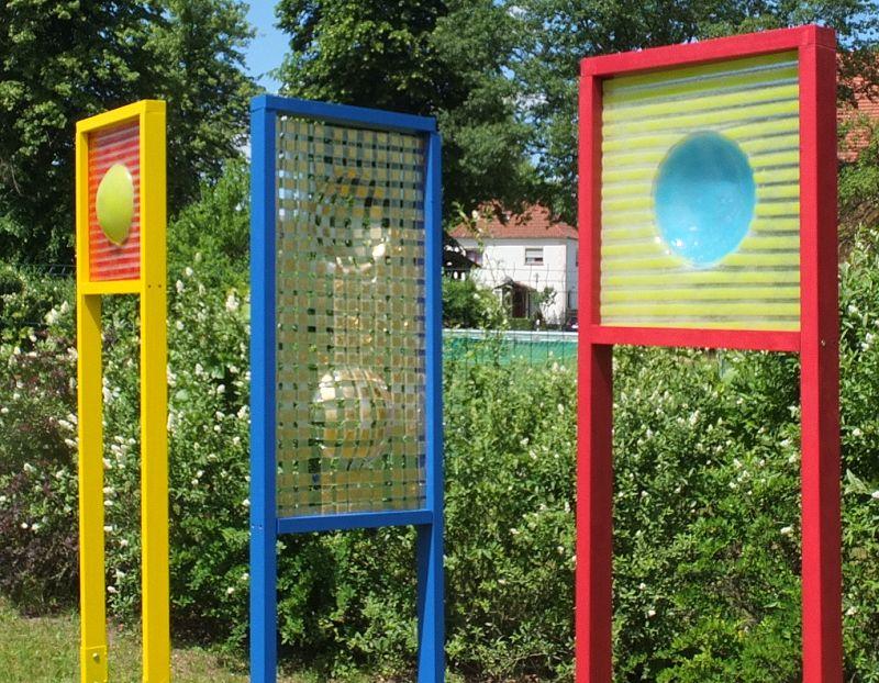 Werner Kothe - Glaskunst - Fusingglas-Plastik für die Ausstellung in Munster 2019