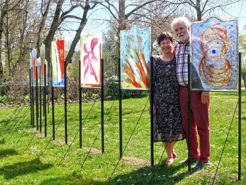 Christa und Werner Kothe im Skulpturenpark